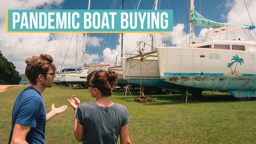 jason and nikki wynn discussing boat buying