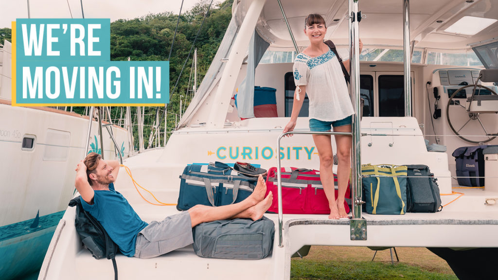 jason and nikki wynn moving aboard their sailboat curiosity
