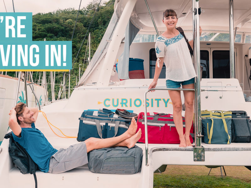 jason and nikki wynn moving aboard their sailboat curiosity