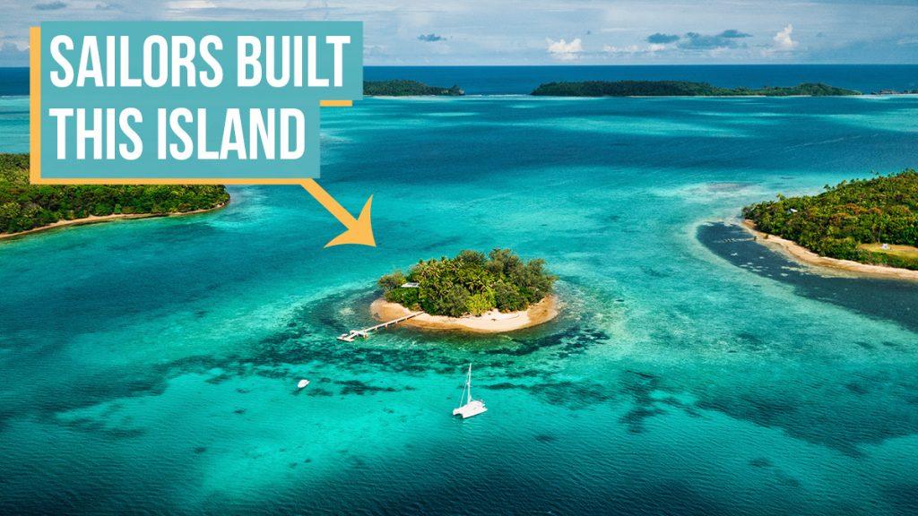 off-grid self-built island