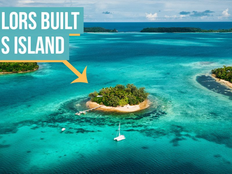 off-grid self-built island