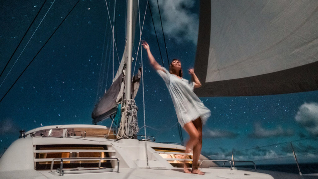 nikki wynn dancing in the full moon sailing at sea