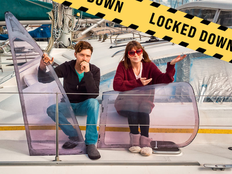 Jason and Nikki Wynn locked down at the marina