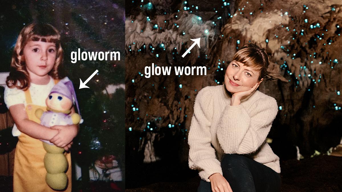 nikki wynn in glow worm cave